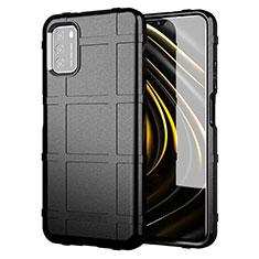 Coque Ultra Fine Silicone Souple 360 Degres Housse Etui pour Xiaomi Poco M3 Noir