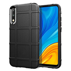 Coque Ultra Fine Silicone Souple 360 Degres Housse Etui S01 pour Huawei Enjoy 10 Noir