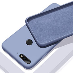 Coque Ultra Fine Silicone Souple 360 Degres Housse Etui S01 pour Huawei Enjoy 8e Bleu