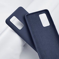 Coque Ultra Fine Silicone Souple 360 Degres Housse Etui S01 pour Huawei P40 Pro+ Plus Bleu