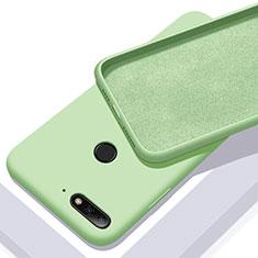 Coque Ultra Fine Silicone Souple 360 Degres Housse Etui S01 pour Huawei Y6 (2018) Vert