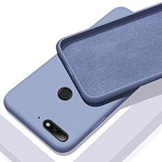 Coque Ultra Fine Silicone Souple 360 Degres Housse Etui S01 pour Huawei Y6 Prime (2018) Bleu