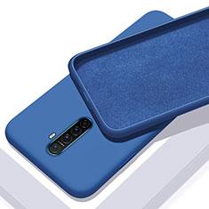 Coque Ultra Fine Silicone Souple 360 Degres Housse Etui S01 pour Realme X2 Pro Bleu