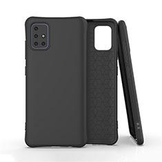 Coque Ultra Fine Silicone Souple 360 Degres Housse Etui S01 pour Samsung Galaxy A51 4G Noir