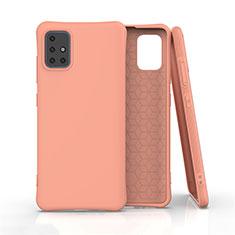 Coque Ultra Fine Silicone Souple 360 Degres Housse Etui S01 pour Samsung Galaxy A51 4G Orange