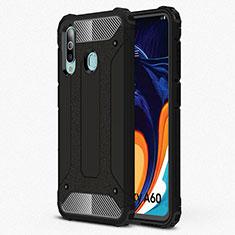 Coque Ultra Fine Silicone Souple 360 Degres Housse Etui S01 pour Samsung Galaxy A60 Noir