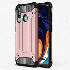 Coque Ultra Fine Silicone Souple 360 Degres Housse Etui S01 pour Samsung Galaxy A60 Or Rose