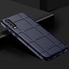 Coque Ultra Fine Silicone Souple 360 Degres Housse Etui S01 pour Samsung Galaxy A70 Bleu