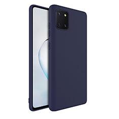 Coque Ultra Fine Silicone Souple 360 Degres Housse Etui S01 pour Samsung Galaxy A81 Bleu