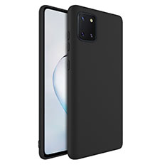 Coque Ultra Fine Silicone Souple 360 Degres Housse Etui S01 pour Samsung Galaxy A81 Noir