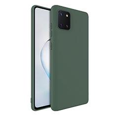 Coque Ultra Fine Silicone Souple 360 Degres Housse Etui S01 pour Samsung Galaxy A81 Vert