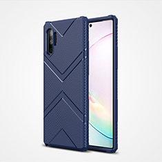 Coque Ultra Fine Silicone Souple 360 Degres Housse Etui S01 pour Samsung Galaxy Note 10 Plus 5G Bleu