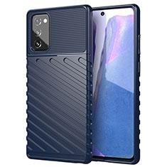 Coque Ultra Fine Silicone Souple 360 Degres Housse Etui S01 pour Samsung Galaxy Note 20 5G Bleu