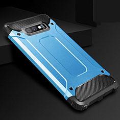 Coque Ultra Fine Silicone Souple 360 Degres Housse Etui S01 pour Samsung Galaxy S10e Bleu
