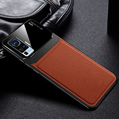 Coque Ultra Fine Silicone Souple 360 Degres Housse Etui S01 pour Vivo X50 Pro 5G Marron