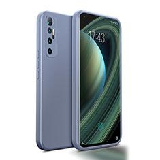 Coque Ultra Fine Silicone Souple 360 Degres Housse Etui S01 pour Xiaomi Mi 10 Ultra Gris Lavende