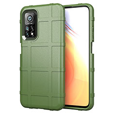 Coque Ultra Fine Silicone Souple 360 Degres Housse Etui S01 pour Xiaomi Mi 10T Pro 5G Vert Armee