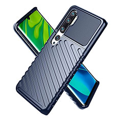 Coque Ultra Fine Silicone Souple 360 Degres Housse Etui S01 pour Xiaomi Mi Note 10 Bleu