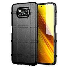 Coque Ultra Fine Silicone Souple 360 Degres Housse Etui S01 pour Xiaomi Poco X3 NFC Noir