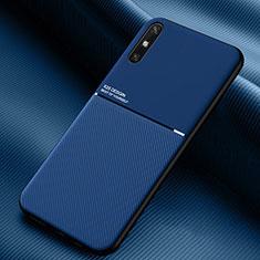 Coque Ultra Fine Silicone Souple 360 Degres Housse Etui S02 pour Huawei Enjoy 10e Bleu