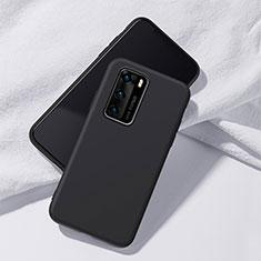 Coque Ultra Fine Silicone Souple 360 Degres Housse Etui S02 pour Huawei P40 Noir