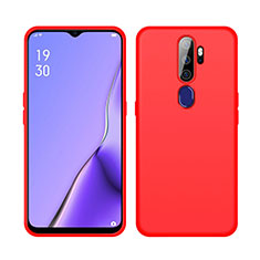 Coque Ultra Fine Silicone Souple 360 Degres Housse Etui S02 pour Oppo A11 Rouge