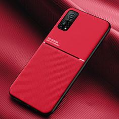 Coque Ultra Fine Silicone Souple 360 Degres Housse Etui S02 pour Xiaomi Mi 10T Pro 5G Rouge
