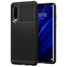 Coque Ultra Fine Silicone Souple 360 Degres Housse Etui S03 pour Huawei P30 Noir