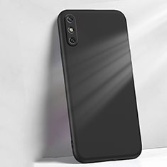Coque Ultra Fine Silicone Souple 360 Degres Housse Etui S04 pour Huawei Enjoy 10e Noir