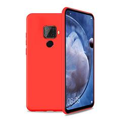 Coque Ultra Fine Silicone Souple 360 Degres Housse Etui S04 pour Huawei Nova 5i Pro Rouge