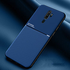 Coque Ultra Fine Silicone Souple 360 Degres Housse Etui S04 pour Oppo A11X Bleu