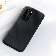 Coque Ultra Fine Silicone Souple 360 Degres Housse Etui S07 pour Huawei P40 Noir