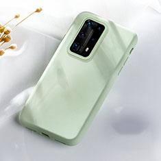 Coque Ultra Fine Silicone Souple 360 Degres Housse Etui S07 pour Huawei P40 Pro+ Plus Vert