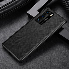 Coque Ultra Fine Silicone Souple 360 Degres Housse Etui S08 pour Huawei P40 Noir