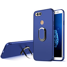 Coque Ultra Fine Silicone Souple avec Support Bague Anneau A01 pour Huawei Honor 7X Bleu