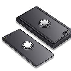 Coque Ultra Fine Silicone Souple avec Support Bague Anneau A02 pour Xiaomi Mi Note 3 Noir
