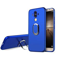 Coque Ultra Fine Silicone Souple avec Support Bague Anneau A04 pour Huawei Mate 9 Bleu
