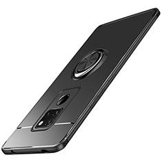 Coque Ultra Fine Silicone Souple avec Support Bague Anneau Aimante A03 pour Huawei Mate 20 Noir