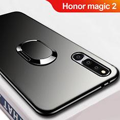 Coque Ultra Fine Silicone Souple avec Support Bague Anneau Aimante Magnetique A02 pour Huawei Honor Magic 2 Noir