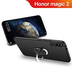 Coque Ultra Fine Silicone Souple avec Support Bague Anneau Aimante Magnetique pour Huawei Honor Magic 2 Noir