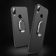 Coque Ultra Fine Silicone Souple avec Support Bague Anneau Aimante Magnetique pour Xiaomi Redmi 7 Noir