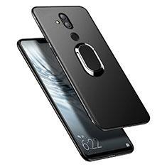 Coque Ultra Fine Silicone Souple avec Support Bague Anneau Aimante pour Huawei Maimang 7 Noir