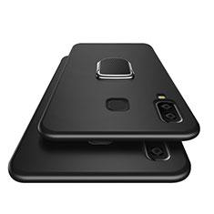 Coque Ultra Fine Silicone Souple avec Support Bague Anneau Aimante pour Samsung Galaxy A8 Star Noir