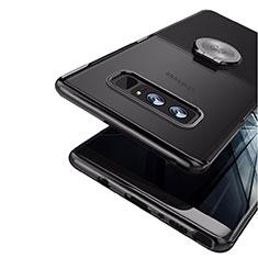 Coque Ultra Fine Silicone Souple avec Support Bague Anneau Aimante pour Samsung Galaxy Note 8 Duos N950F Noir