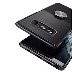 Coque Ultra Fine Silicone Souple avec Support Bague Anneau Aimante pour Samsung Galaxy Note 8 Noir