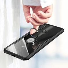Coque Ultra Fine Silicone Souple avec Support Bague Anneau Aimante pour Xiaomi Redmi Note 7 Noir