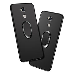 Coque Ultra Fine Silicone Souple avec Support Bague Anneau pour Huawei Honor 5X Noir