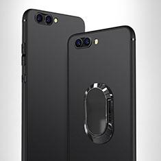 Coque Ultra Fine Silicone Souple avec Support Bague Anneau pour Huawei Honor V10 Noir