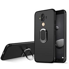 Coque Ultra Fine Silicone Souple avec Support Bague Anneau pour Huawei Mate 10 Pro Noir