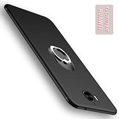Coque Ultra Fine Silicone Souple avec Support Bague Anneau pour Huawei Y5 (2017) Noir